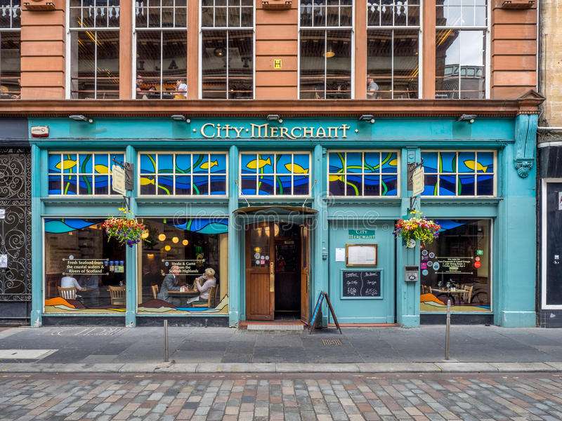 Купец города в Глазго, Шотландии стоковое фото rf