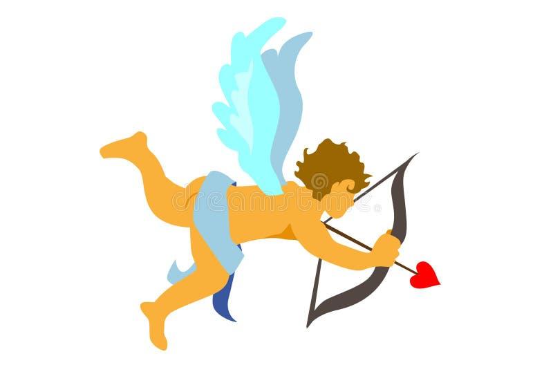 купидон ангела иллюстрация вектора
