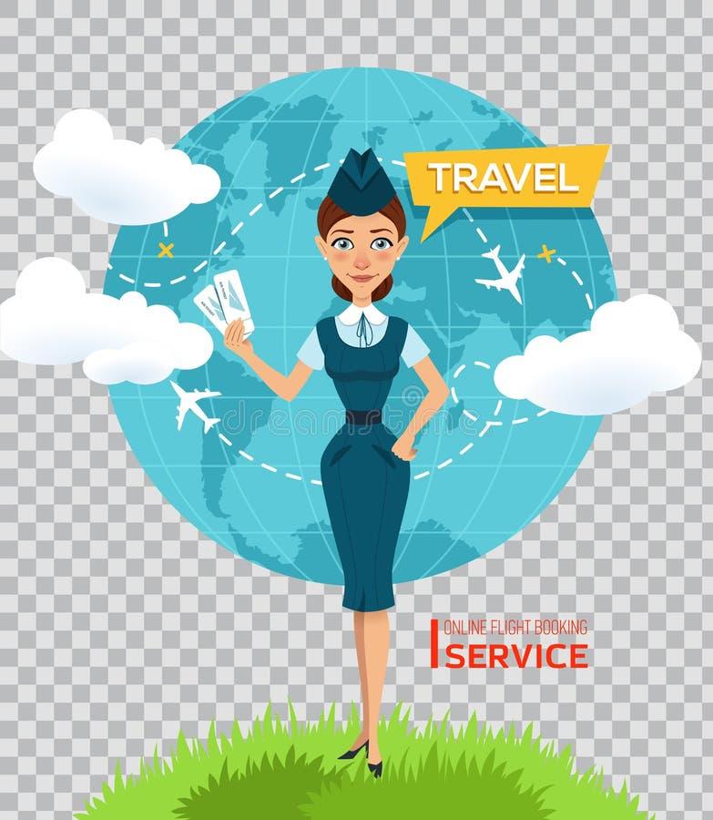 Купите авиабилеты онлайн Плакат рекламы, знамя бесплатная иллюстрация