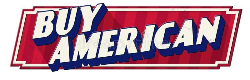 Купите американский знак олова ретро винтажным взглядом иллюстрация штока