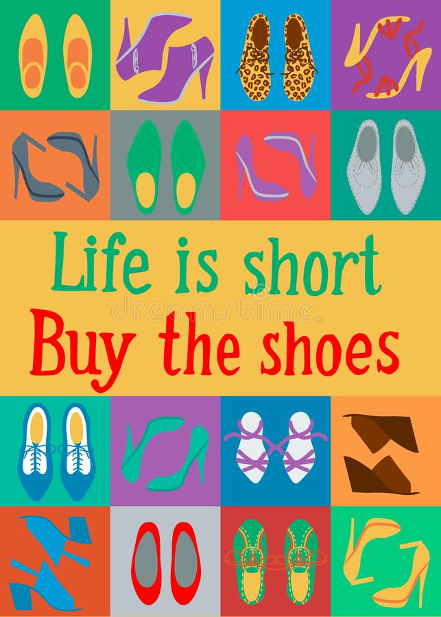 Купите ботинки иллюстрация штока