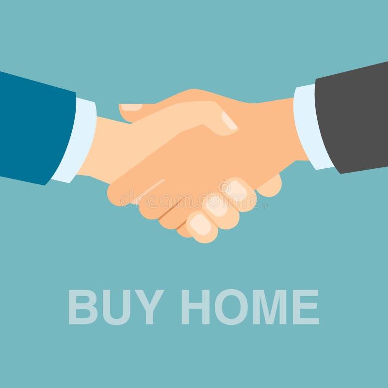 Купите домашнее рукопожатие бесплатная иллюстрация