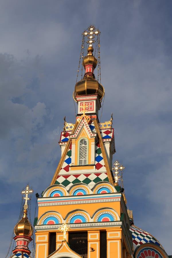 куполок собора восхождения almaty стоковое изображение