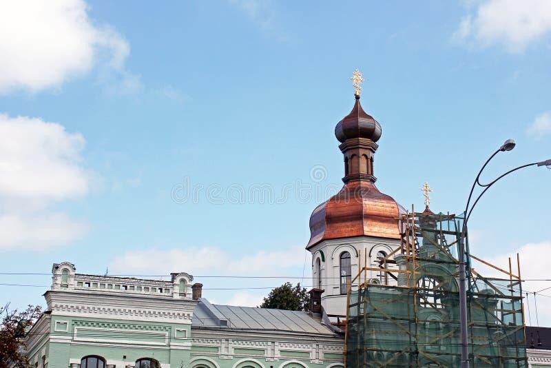 Куполы церков Церковь стоковое изображение rf