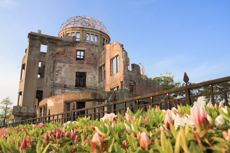 Купол атомной бомбы на парке мира Хиросимы мемориальном стоковое изображение rf