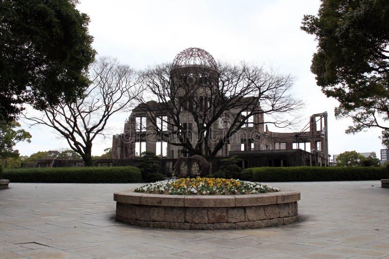 Купол в Хиросиме, часть атомной бомбы мира Mem Хиросимы стоковые изображения
