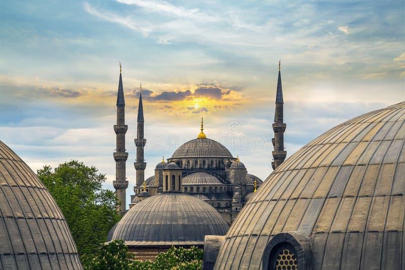 Купол и минарет Hagia Sophia Стамбула, Турции стоковое фото