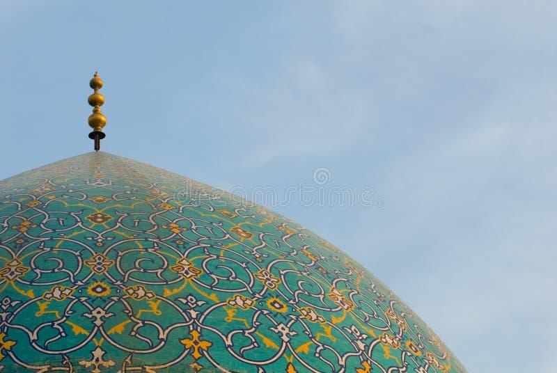 Купол мечети имама стоковое изображение rf