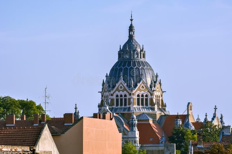 Купол новой синагоги стоковые изображения rf