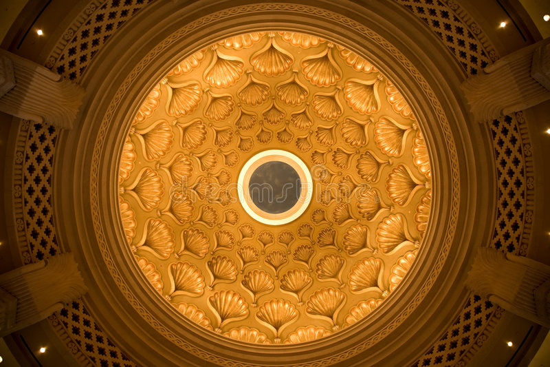 купол потолка богато украшенный стоковые фотографии rf