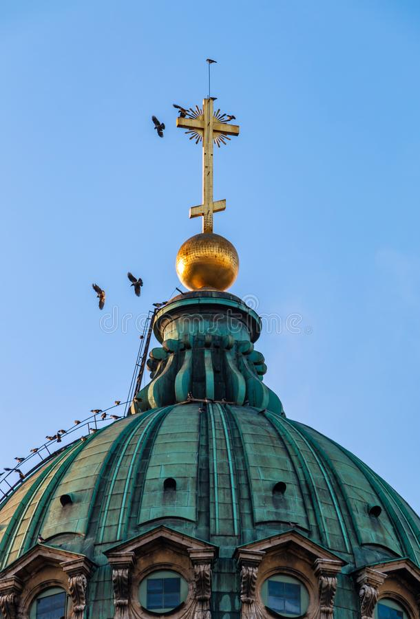 Купол собора Казани в Санкт-Петербурге, России стоковое изображение