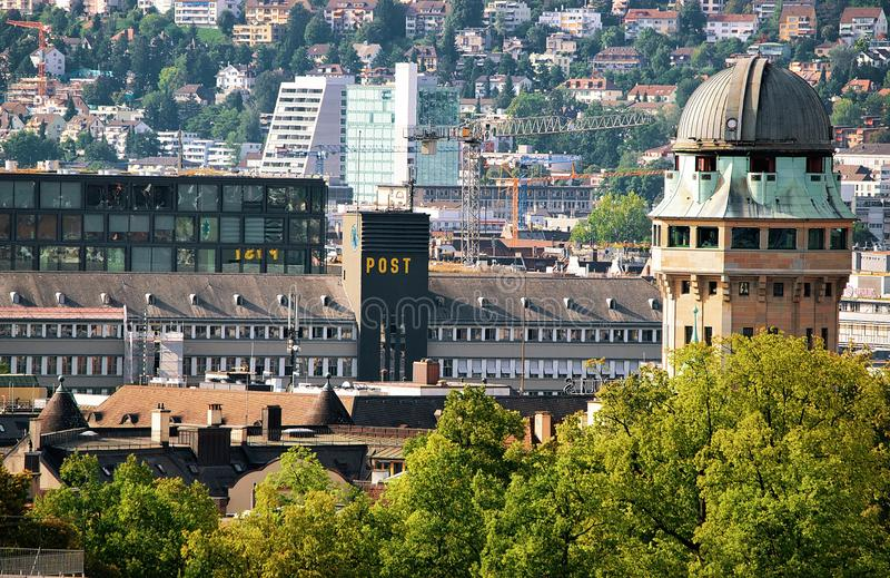 Купол телескопа и крыши Цюрих Европа стоковые фото