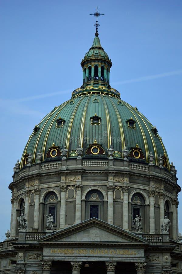 Купол церков Копенгагена ` s Frederik стоковое изображение rf
