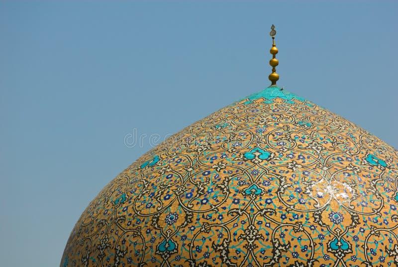Купол шейха Lotf аллаха Мечети стоковая фотография rf