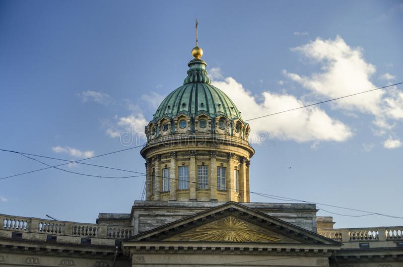 купол kazan собора стоковые изображения