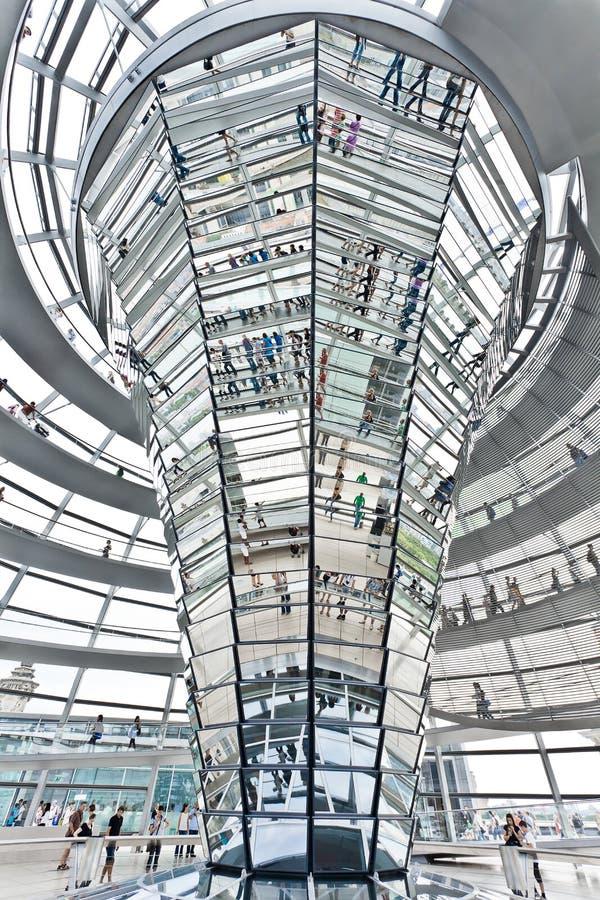 Купол Reichstag berlin Германия стоковое изображение