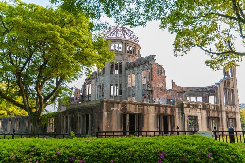 Купол атомной бомбы в Хиросиме стоковое изображение rf