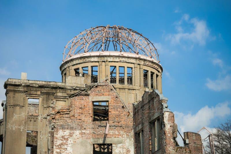 Купол атомной бомбы на парке мира мемориальном, Хиросиме, Японии стоковое изображение rf