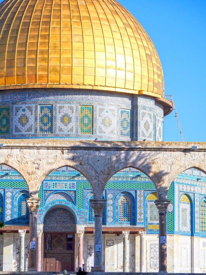 Купол золота мечети Иерусалима утеса стоковое изображение rf