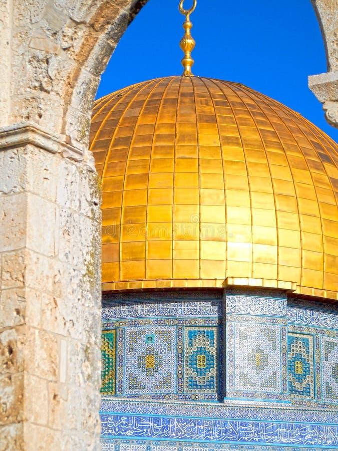 Купол золота мечети Иерусалима утеса стоковая фотография rf