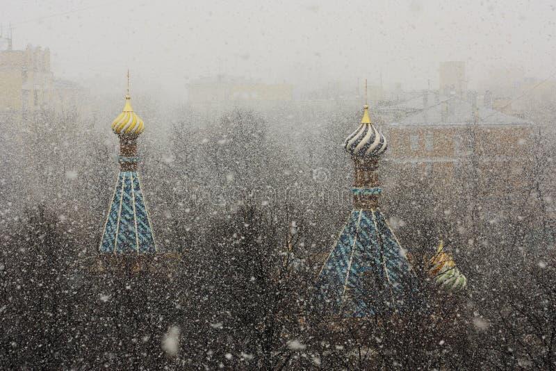 Купол и снег стоковая фотография rf