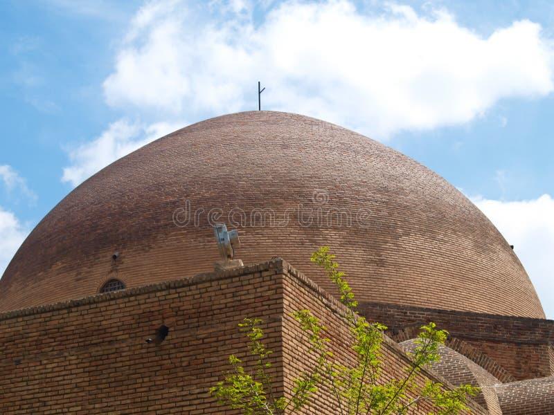 Купол кирпича в голубой мечети в Тебризе, Иране стоковые фотографии rf