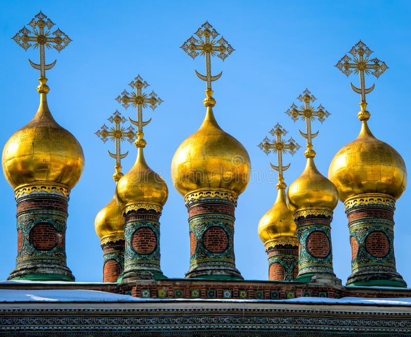 Куполки в соборе верхнего спасителя стоковые изображения