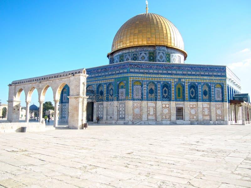 Купол мечети Иерусалима утеса стоковые фото