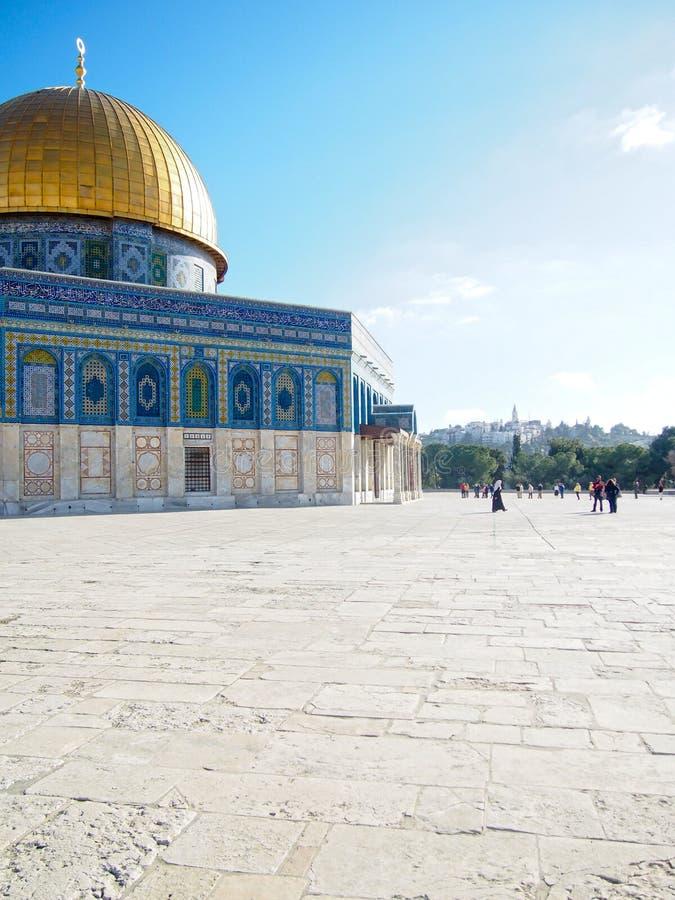 Купол мечети Иерусалима утеса стоковое фото