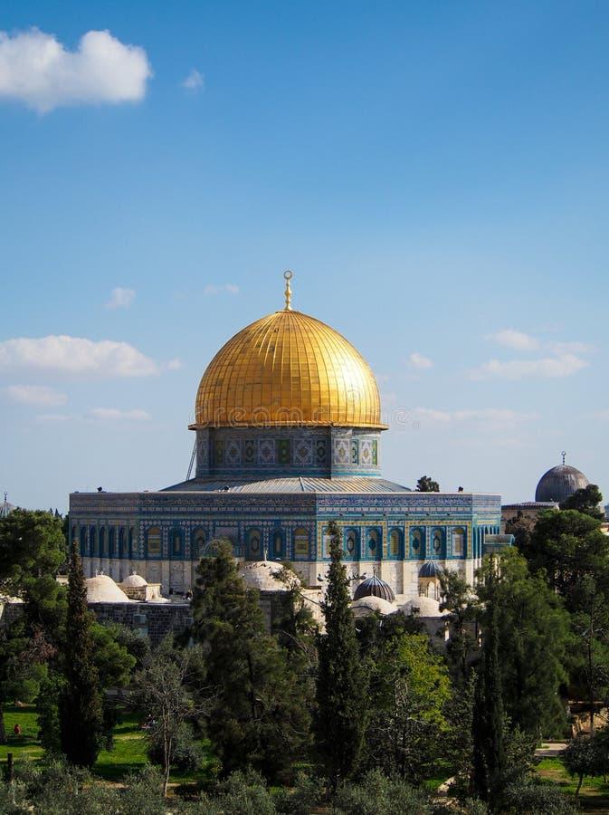 Купол мечети Иерусалима утеса стоковое фото rf