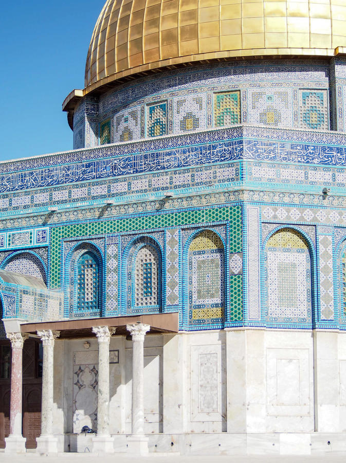 Купол мечети Иерусалима утеса стоковые изображения