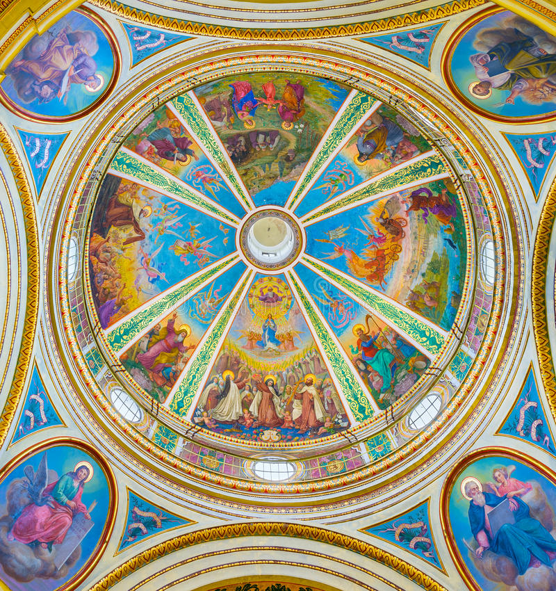 Купол монастыря Стеллы Maris в Хайфе стоковые изображения