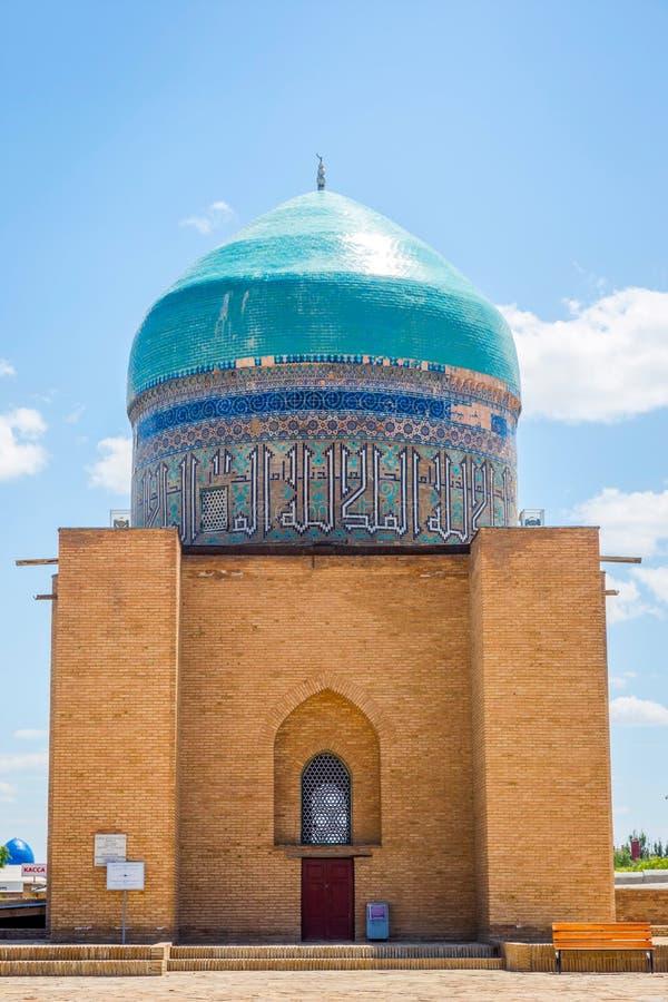 Купол на мавзолее Turkistan, Казахстане стоковая фотография rf