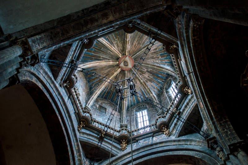 Купол собора Santiago de Compostela стоковая фотография rf