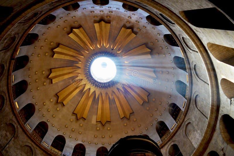 Купол церков святого Sepulchre в Иерусалиме, Израиле стоковые фотографии rf