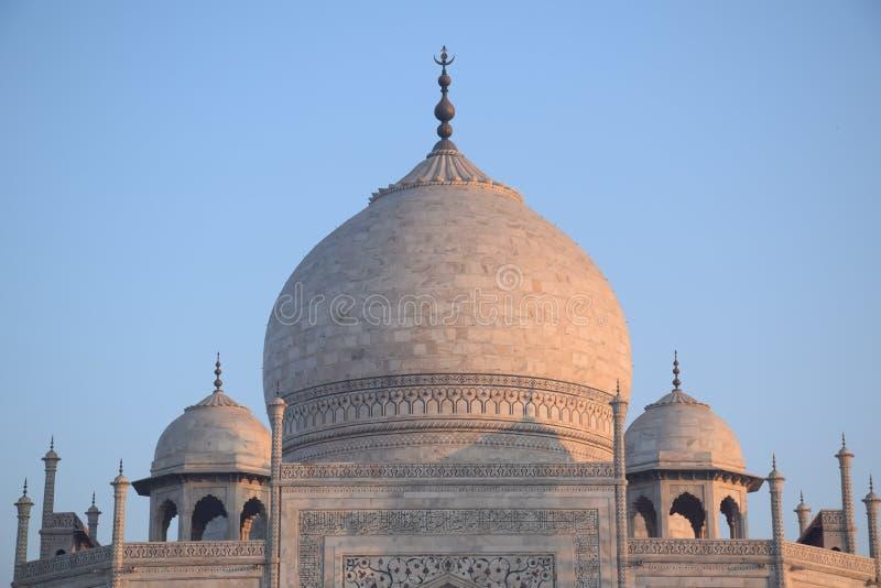 Куполы Тадж-Махала, Агры, Уттар-Прадеш, Индии стоковые изображения