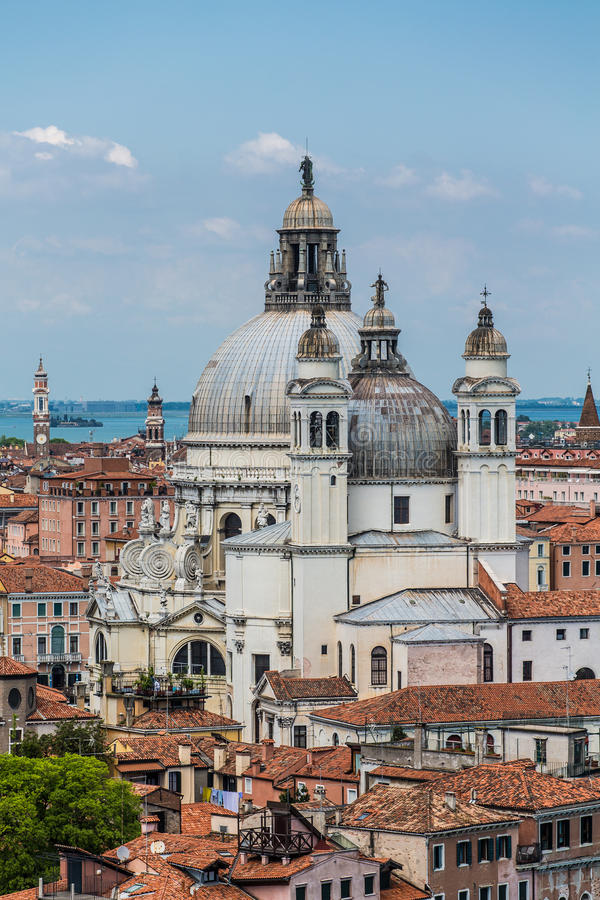 Куполы церков Венеции стоковое фото