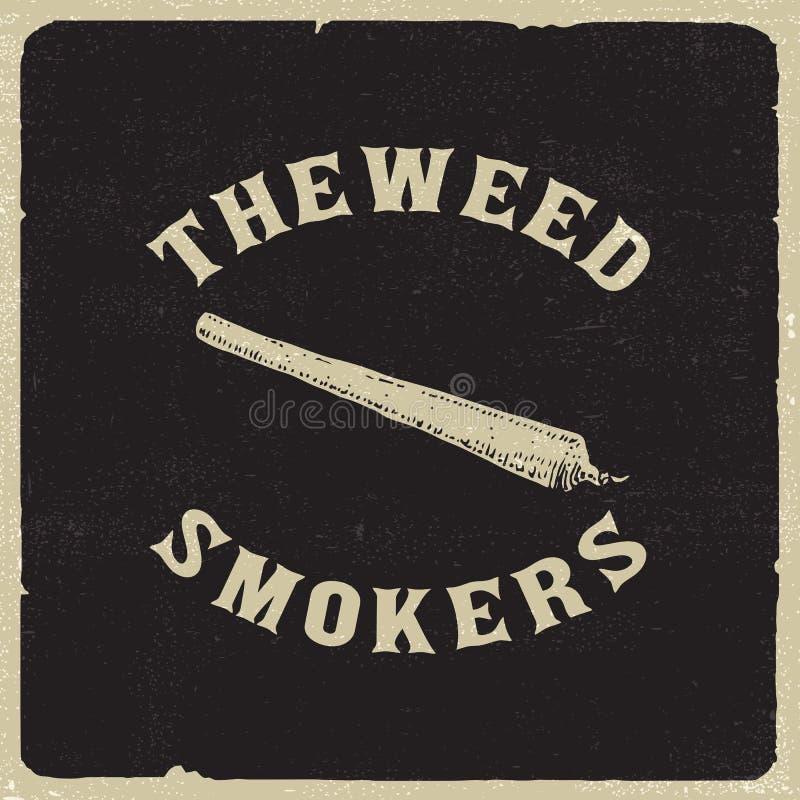 Курильщики засорителя иллюстрация вектора
