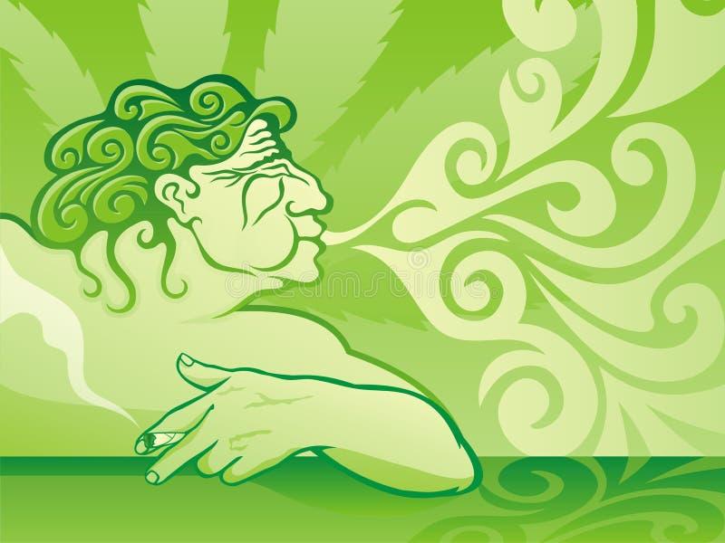 курильщица бака бесплатная иллюстрация