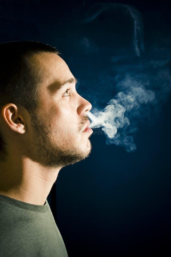 курильщица профиля стоковые фото