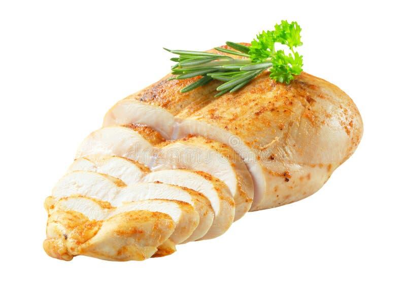 Куриная грудка с протиркой чеснока стоковое фото