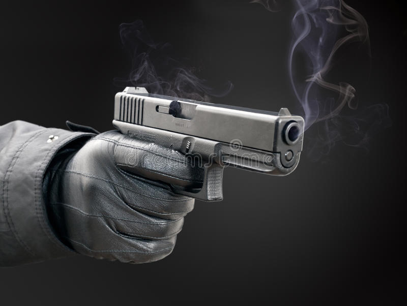курить пушки стоковое изображение