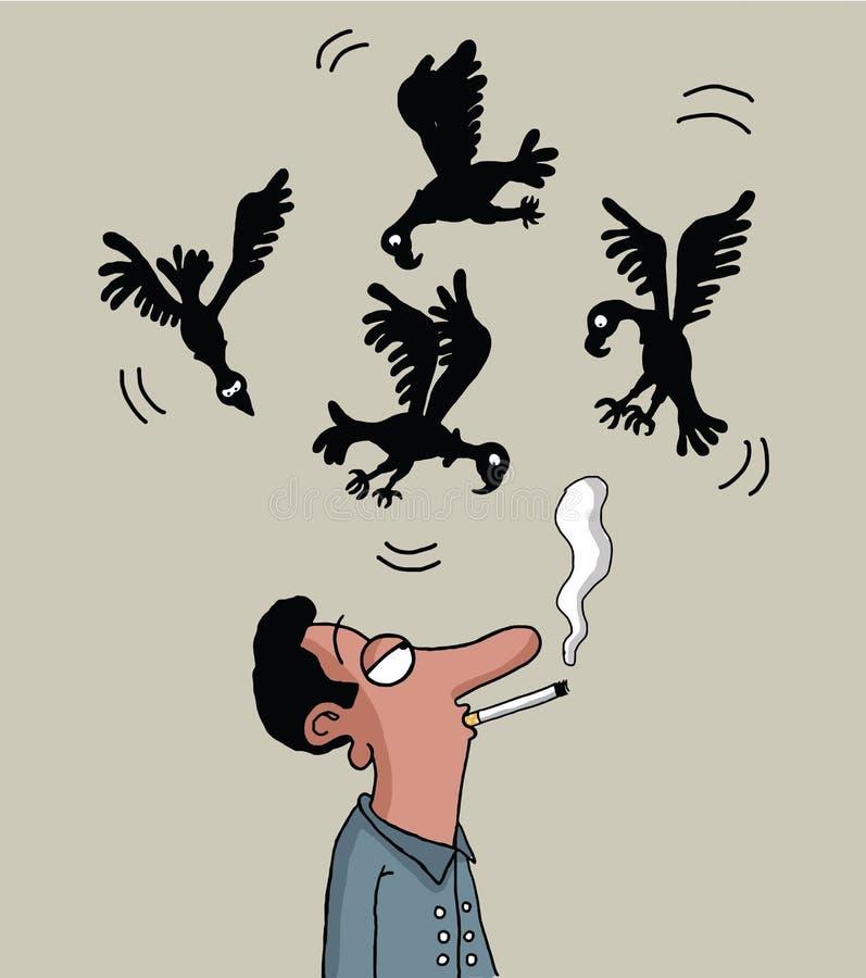 Курить убьет вас иллюстрация штока