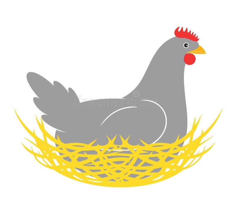 курица гнездй иллюстрация вектора