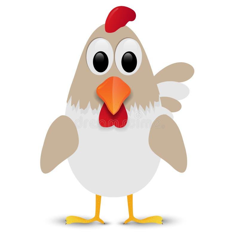 Курица изолированная на белой предпосылке также вектор иллюстрации притяжки corel бесплатная иллюстрация