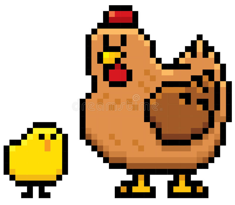 Курица и цыпленок бесплатная иллюстрация