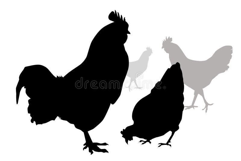 Курица & Кран-вектор иллюстрация вектора