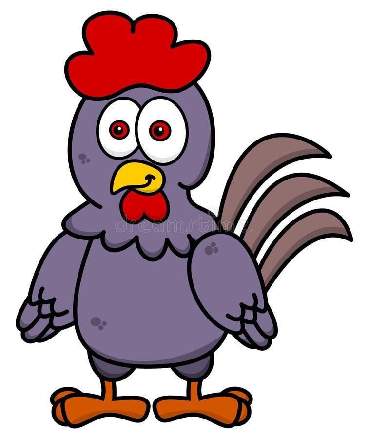 Курица стоя усмехающся иллюстрация вектора
