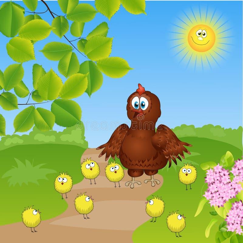 курица с цыпленоками Стоковое фото RF