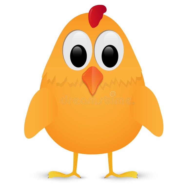 курица цыпленка предпосылки изолировала одну белизну также вектор иллюстрации притяжки corel иллюстрация штока